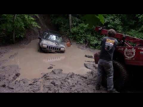 SWAMPED ZJ ON PARK JEEP TRAILRIDE by BSF Recovery Team