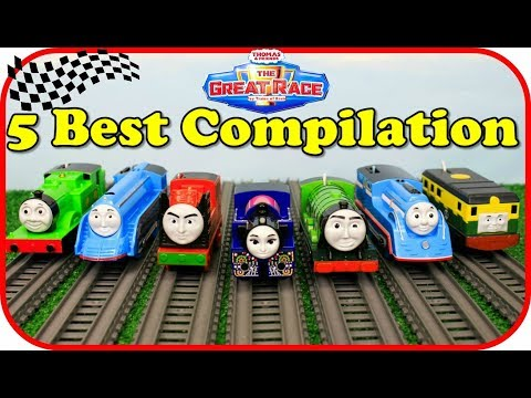 THOMAS AND FRIENDS THE GREAT RACE COMPILATION Thomas & Friends Compilation Video TOY TRAINS FOR KIDS