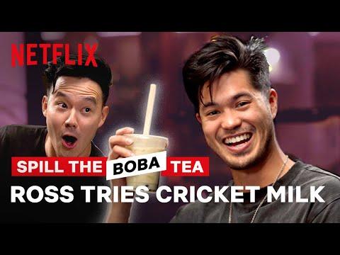 Ross Butler Tries Cricket Milk?! Spill the Boba Tea | Netflix
