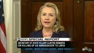 US Ambassador Death in Libya: Hillary Clinton Speech - Christopher Stevens' Death 'Should Shock'