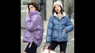 Модные женские зимние куртки и пальто 2020 повседневная короткая парка с длинным рукавом толстое