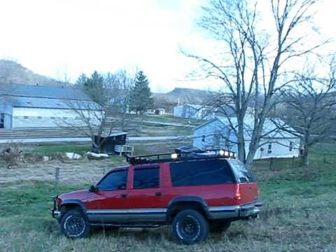 Suburban With Roof Light Rack 4x4 Offroad Hill Climb Youtube