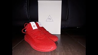 2017 Pharrell Williams Adidas Hu RED || Unboxing & On Feet