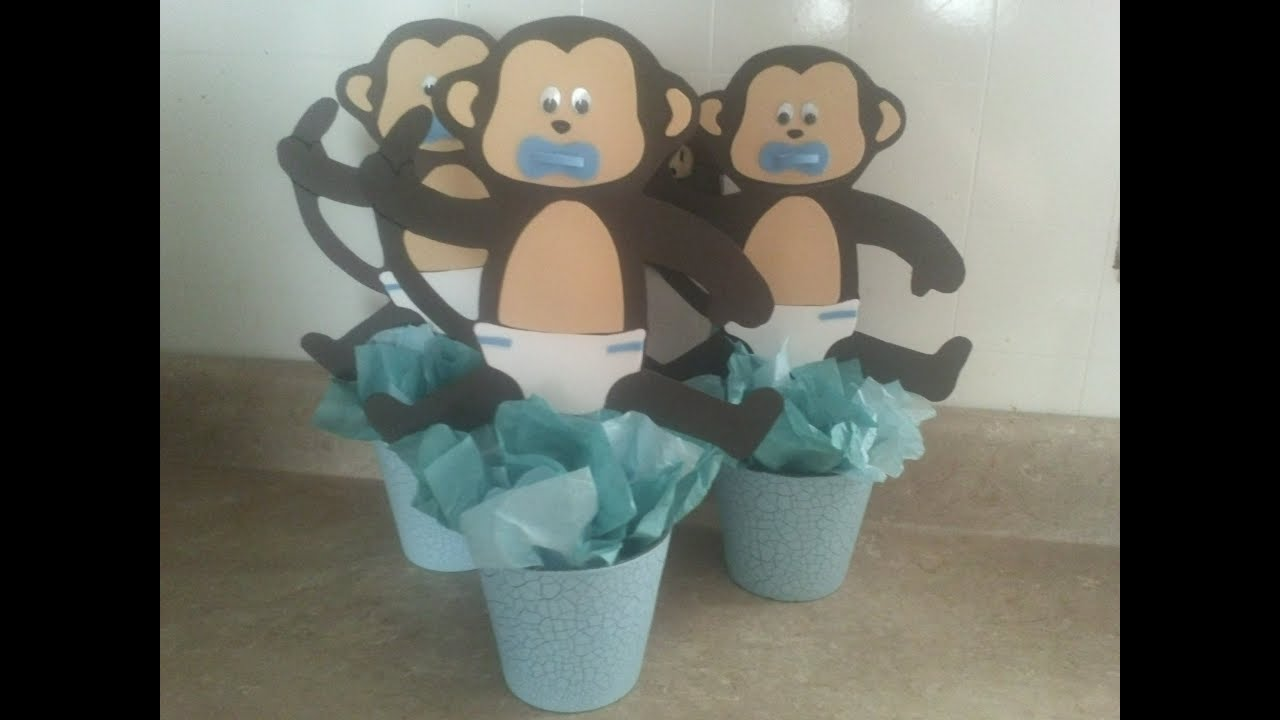 changuitos centro de mesa baby shower