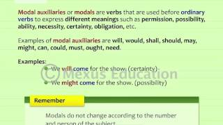 Auxillaries and Modals