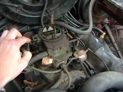 Fixed the choke on my \u002779 Dodge 100 truck Cold start  drive - YouTube