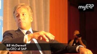 Bill McDermott, the co-CEO of SAP speaking at the Churchill Club