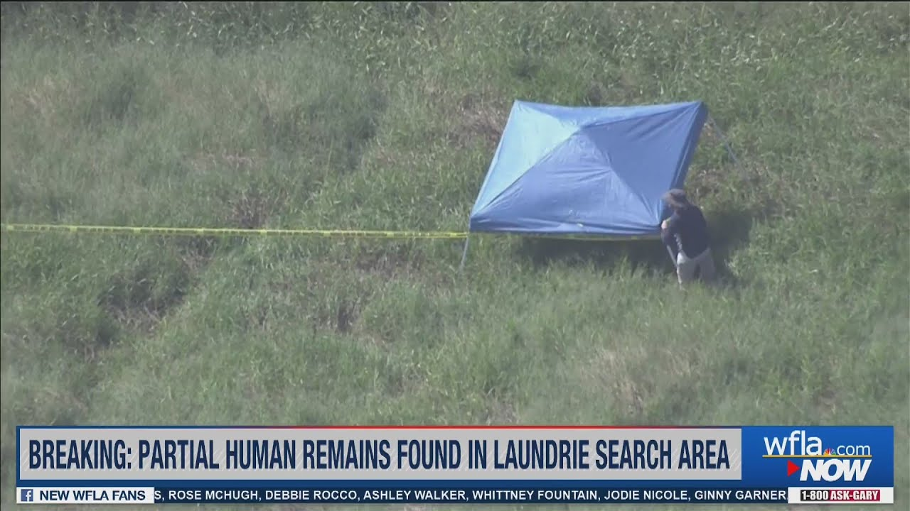 Download Police tape put up near tent at Brian Laundrie search site