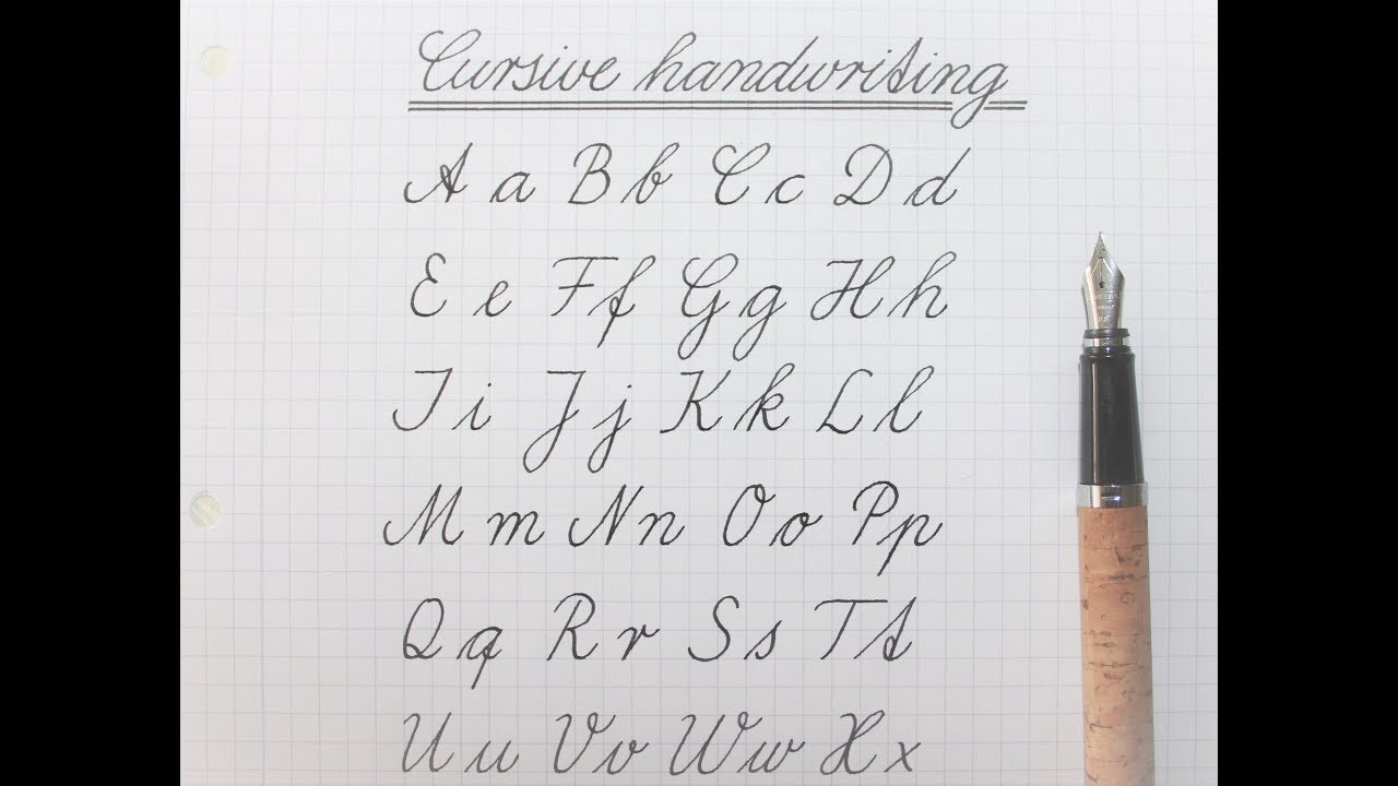 how to write in cursive - german standard for beginners