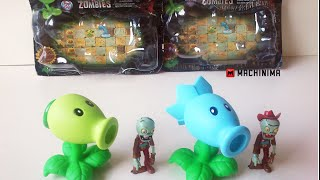 Bonecos Plantas Vs. Zumbis (Action Figure Plants Vs. Zombies) Review / Unboxing Aliexpress