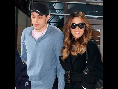 Pete Davidson and Kate Beckinsale Show PDA at Hockey Game