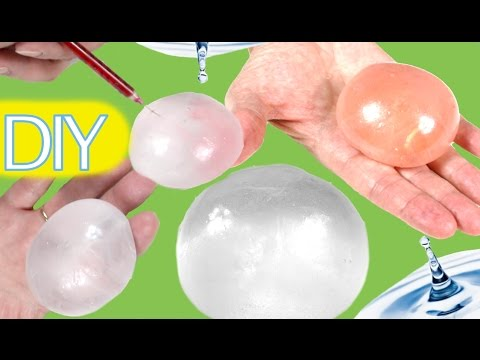 Science experiments for kids: how to make a raindrop with glue