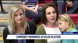 Hundred Gather To Mourn The Death Of K-9 Officer Harlej