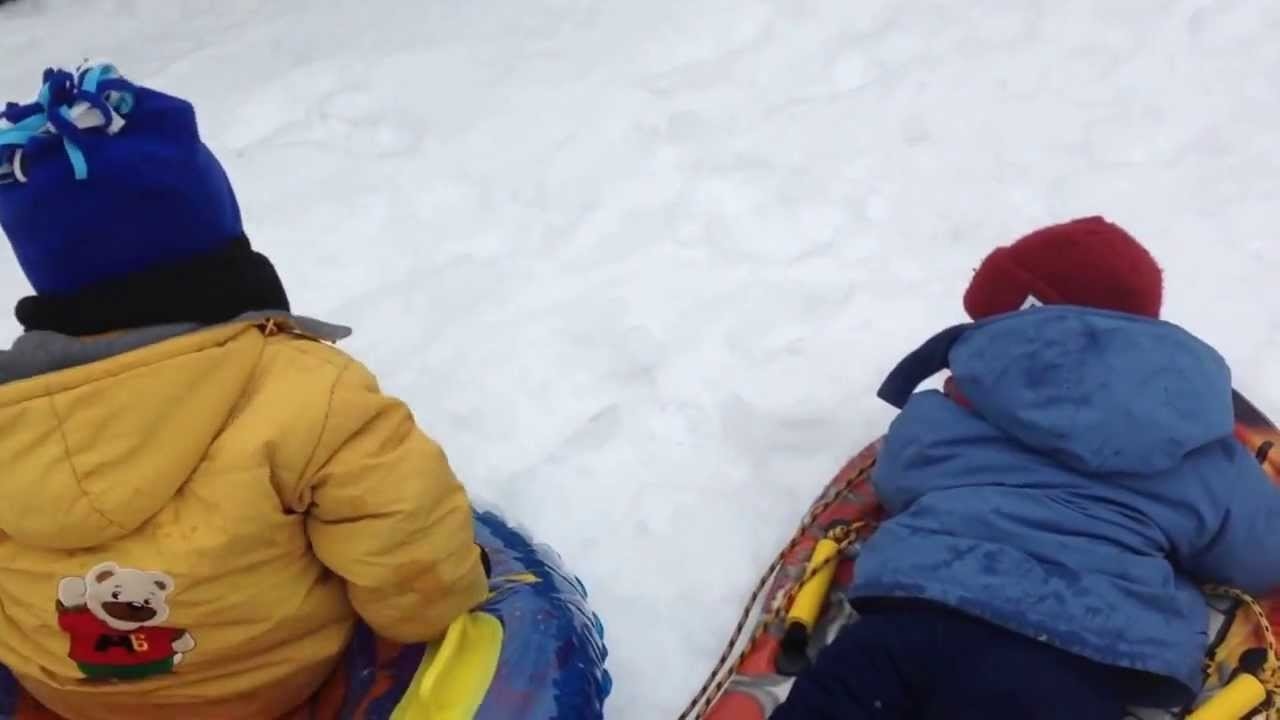 tabogganing in our own backyard youtube
