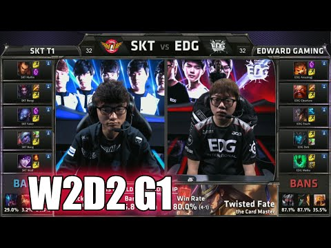 SK Telecom T1 vs Edward Gaming | Week 2 Day 2 Group C LoL S5 World Championship 2015 | SKT vs EDG G2