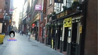 A walk up Mathew Street from NEMS to the Cavern Club where The Beatles played