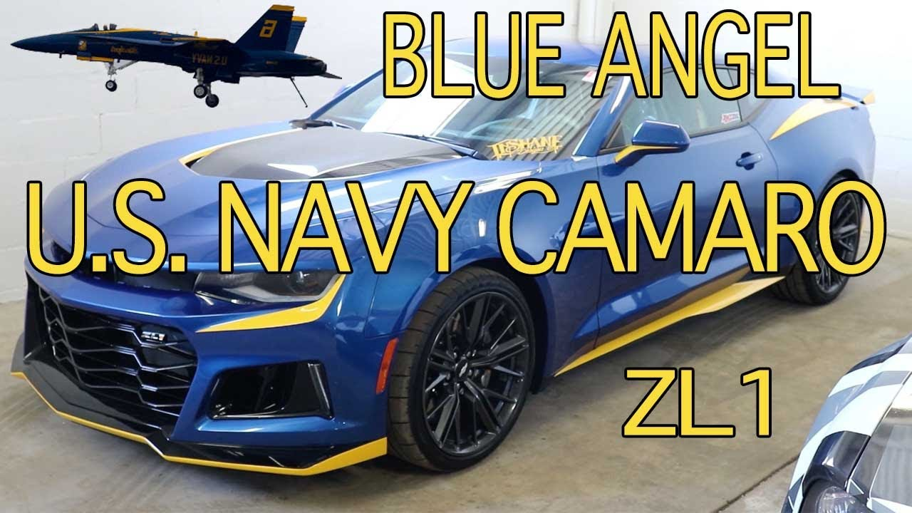 2017 Camaro Zl1 Blue Angel Design Youtube