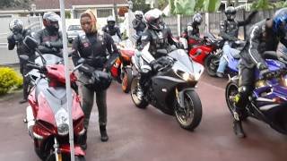 South African Bikers Play Anthem on Motorcycle