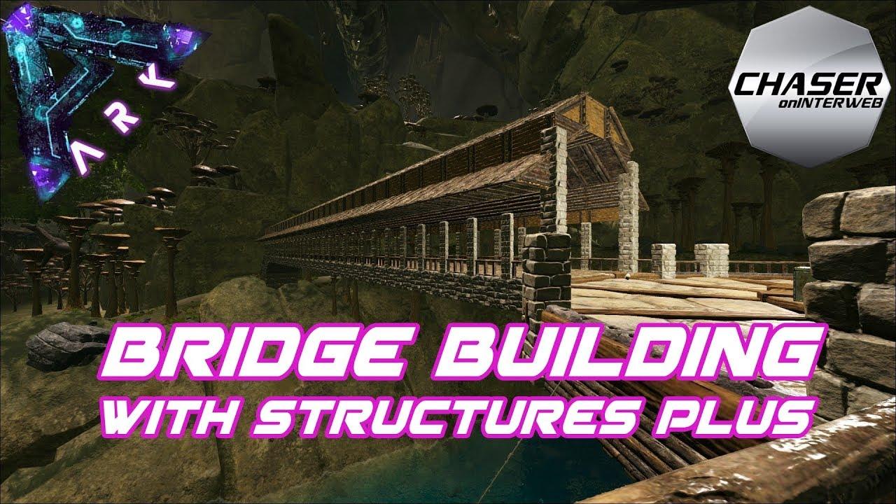 ARK Aberration: Epic Bridge Build with Structures Plus!