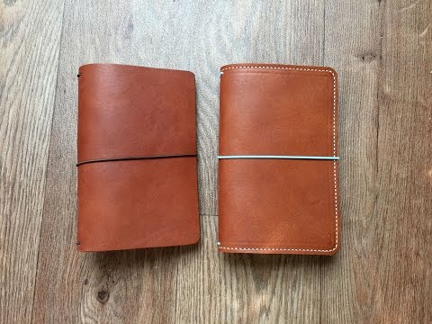Chic Sparrow Creme Brulee and FoxyFix Wanderlust Butterscotch Leather Comparison