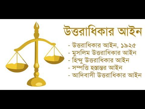 বাংলাদেরশের উত্তরাধিকার আইন: Succession Act - Laws of Bangladesh | Android app