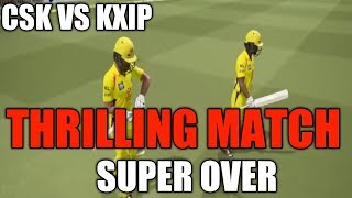 CSK VS KXIP THRILLING MATCH IN ASHES CRICKET 17 PC GAME | AMAZING SUPER OVER