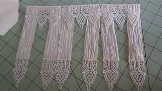 DIY dining room lace curtains one inch scale