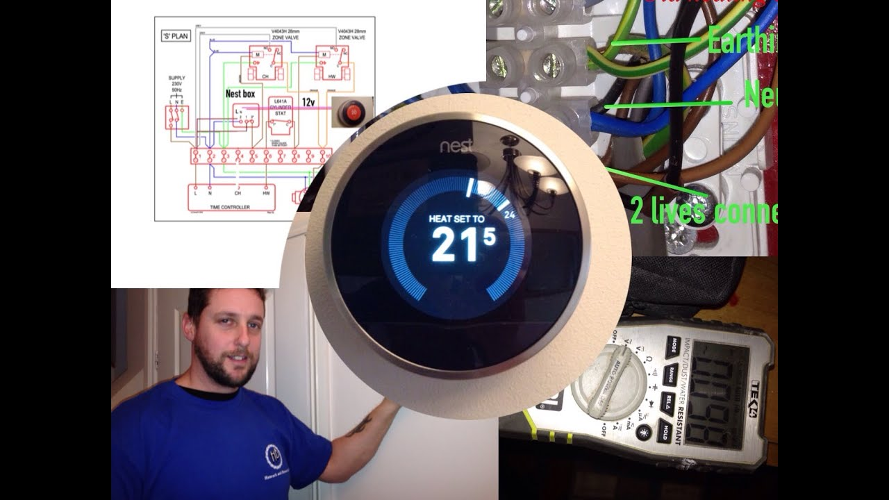 nest thermostat, including wiring and diagrams youtube, wiring diagram, nest 3rd gen y plan wiring