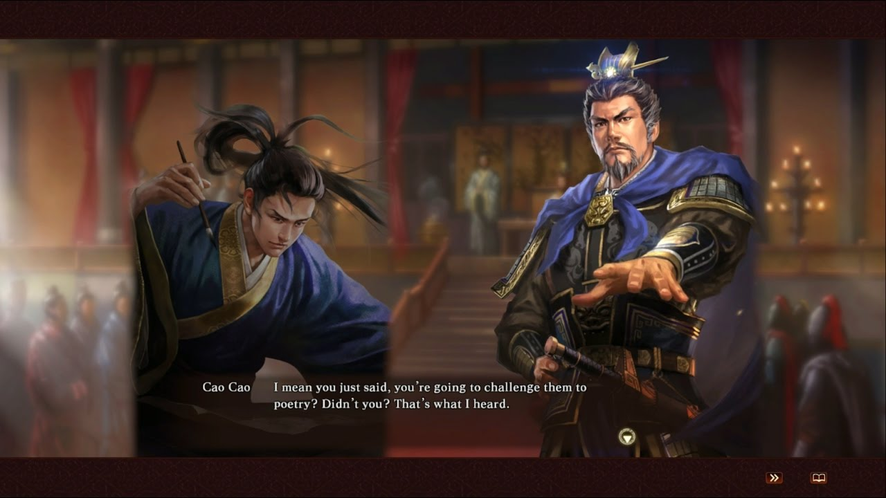 Cao Zhi's Poetry Battle Custom Event - Romance of the Three Kingdoms 13  Fame and Strategy Expansion