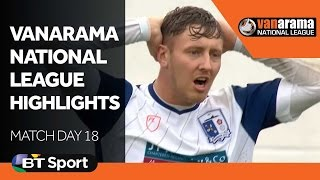 Vanarama National League Highlights Show - Matchday 18