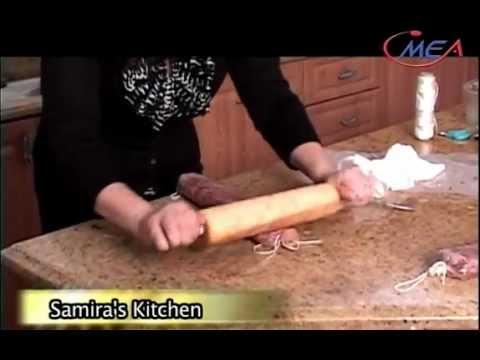 Samira's Kitchen #9 -صمون عراقي Iraqi bread, باسطرمة عراقية Basterma (Arabic Sausage),