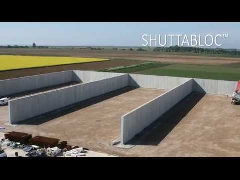 Poundfield Products Shuttabloc Concrete Retaining Wall