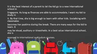 Best Value International School for My Kid