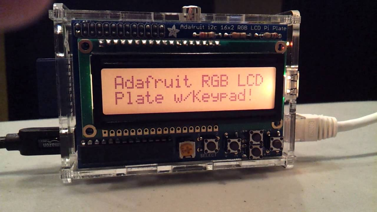 Adafruit RGB LCD + Keypad Pi Plate | element14 | Raspberry