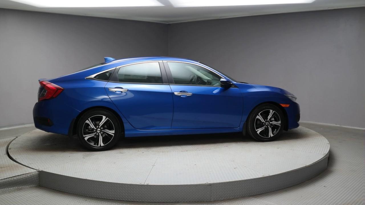 2017 aegean blue metallic honda civic sedan h298 youtube for Blue honda civic 2017