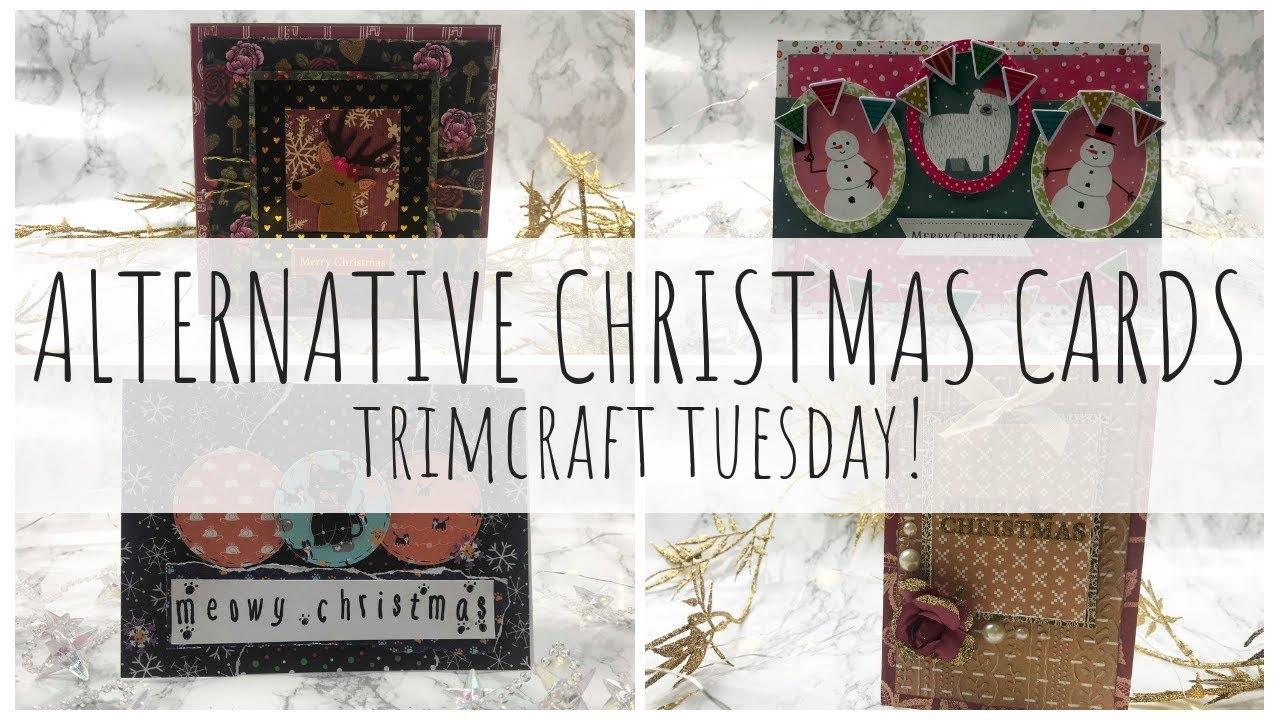 ALTERNATIVE CHRISTMAS CARDS | Using non-Christmas Craft Items ...