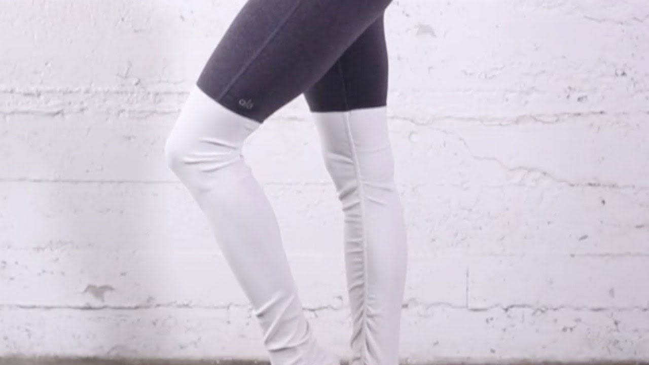 cca3d7dda9e9c Alo Yoga Goddess Ribbed Legging. Evolve Fit Wear