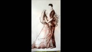 The Wedding Couple drawing | SEPIA MIX