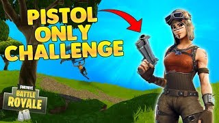 Fortnite Battle Royale - Pistol Challenge (Fortnite Victory Royale)