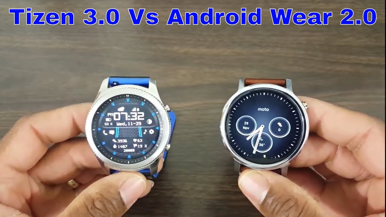 Can Wear OS 2 0 Compete With Tizen 3 0? Moto 360 2 Vs Gear S3
