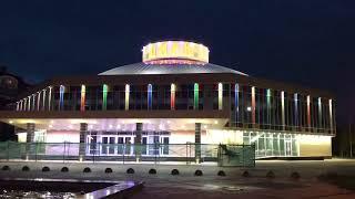 На здании Рязанского цирка протестировали подсветку