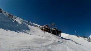 Bulgaria Skiing - Bansko, ski trail black Tomba full, ski run 9