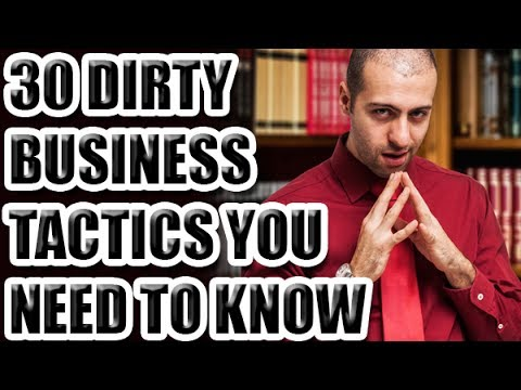 30 Dirty Business Tactics You Need To Know