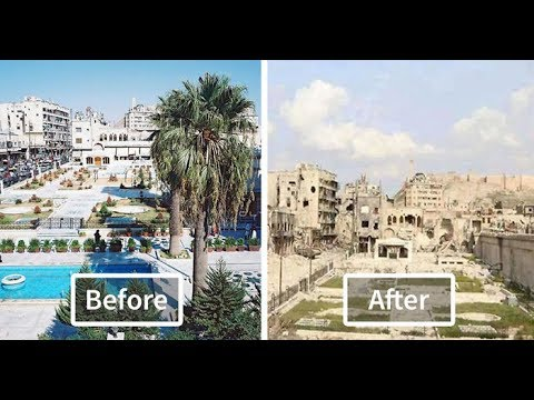 12 Places Before & After War