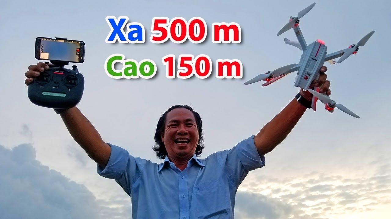 Bugs 3 Pro – Test bay xa tối đa 500 m – Bay cao 150 m – Hình ảnh Wifi vẫn mượt mà