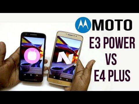 Moto E4 Plus VS Moto E3 Power Comparison  |Hindi |