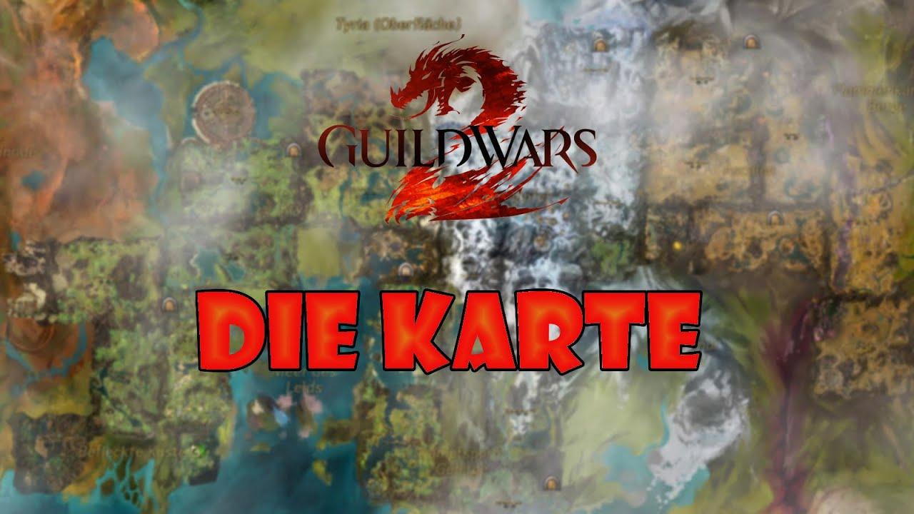 Gw2 Karte.Guild Wars 2 Tutorials Die Karte