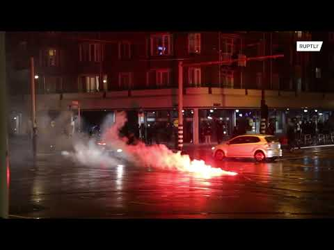 Netherlands: Police deployed in Amsterdam amid another night of riots over curfew