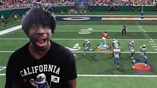 Madden 15 Ultimate Team Gameplay - IMPOSSIBLE No-Look Catch Causes RAGE QUITTER To Spit Water