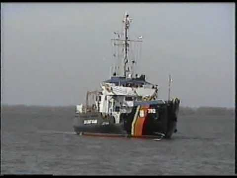 USCGC BRAMBLE, Departing Erie, March 30, 2002
